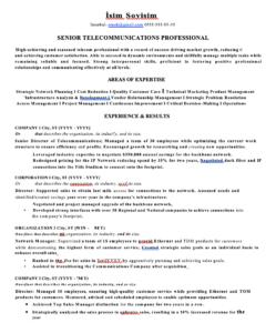 Telekom Örnek CV
