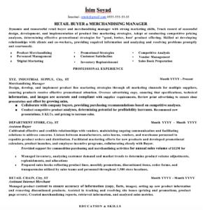Perakende CV Örnekleri